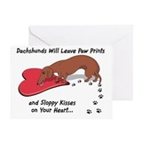 Sloppy Kisses Weiner Dog Greeting Card
