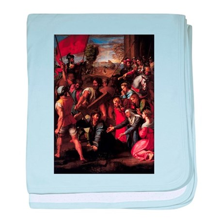 Christ Falls on the Way to Ca baby blanket