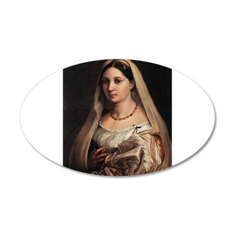Lady with a Veil 22x14 Oval Wall Peel