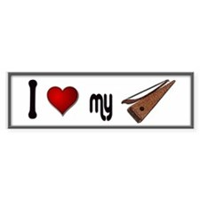 Love Bowed Psaltery Bumper Sticker