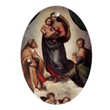 The Sistine Madonna Ornament (Oval)