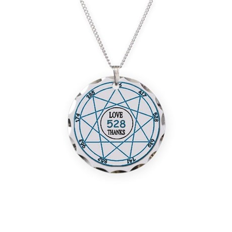528 Love Solfeggio ~ Necklace Circle Charm