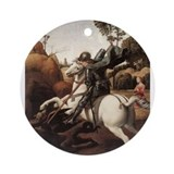 St George and the Dragon Ornament (Round)