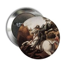 "St George and the Dragon 2.25"" Button (10 pack)"