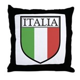 Italia Shield / Italy Flag Throw Pillow
