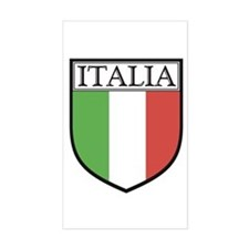 Italia Shield / Italy Flag Rectangle Decal
