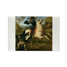 St George Fighting the Dragon Rectangle Magnet