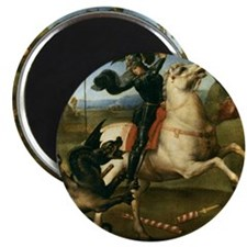 "St George Fighting the Dragon 2.25"" Magnet (10 pac"