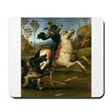 St George Fighting the Dragon Mousepad
