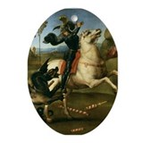 St George Fighting the Dragon Ornament (Oval)