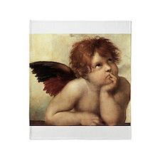 The Sistine Madonna (2nd deta Throw Blanket