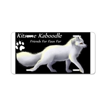 Kitsune Kaboodle Arctic Fox Aluminum License Plate