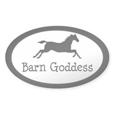 Barn Goddess - Oval Decal