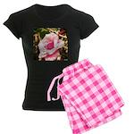 Pink Plantation Rose Women's Dark Pajamas