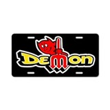 Demon - Aluminum License Plate
