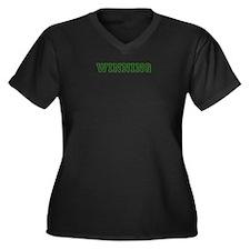 Cute Charlie Women's Plus Size V-Neck Dark T-Shirt