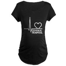 I Love General Hospital Maternity Dark T-Shirt