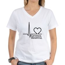 I Love General Hospital Women's V-Neck T-Shirt