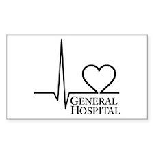 I Love General Hospital Sticker (Rectangle 50 pk)