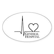 I Love General Hospital Sticker (Oval 50 pk)