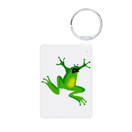Feeling Froggy Aluminum Photo Keychain