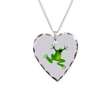 Feeling Froggy Necklace Heart Charm