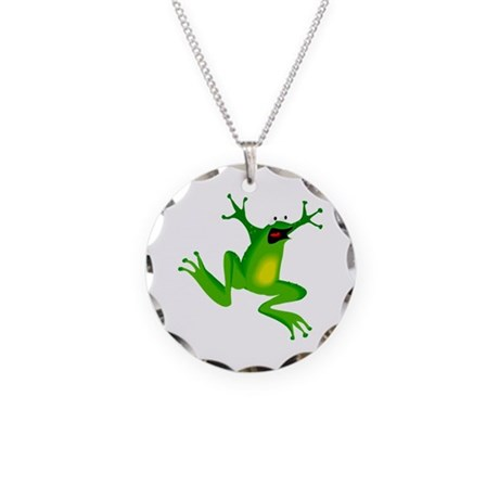 Feeling Froggy Necklace Circle Charm
