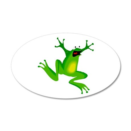 Feeling Froggy 38.5 x 24.5 Oval Wall Peel