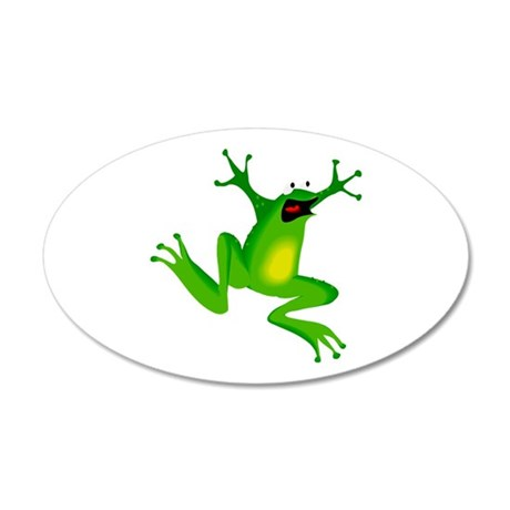 Feeling Froggy 22x14 Oval Wall Peel