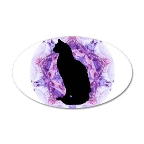 Kaleidoscope Cat 38.5 x 24.5 Oval Wall Peel