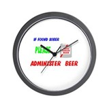 Administer Beer Wall Clock