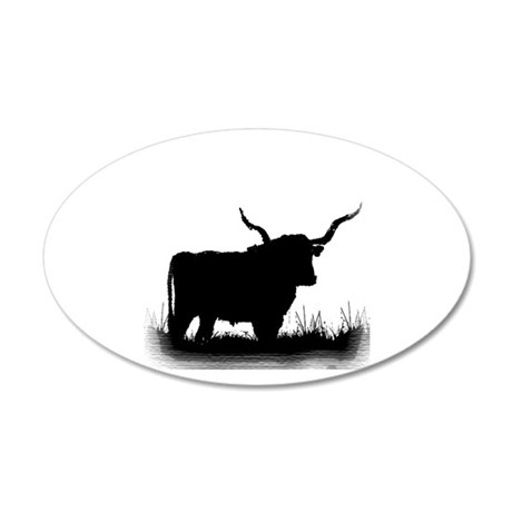 Longhorn 22x14 Oval Wall Peel
