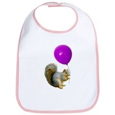 Squirrel Balloon Bib