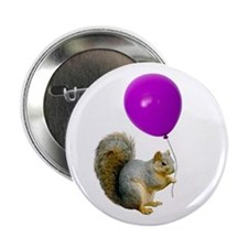 "Squirrel Balloon 2.25"" Button"