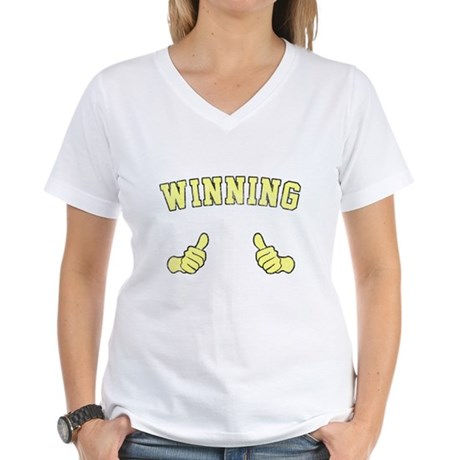 Winning Womens V-Neck T-Shirt