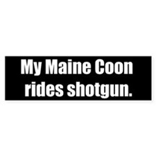 My Maine Coon rides shotgun (Bumper Sticker)