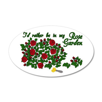 In My Rose Garden 38.5 x 24.5 Oval Wall Peel