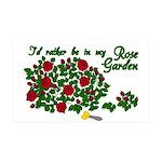 In My Rose Garden 38.5 x 24.5 Wall Peel