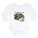 In My Rose Garden Long Sleeve Infant Bodysuit