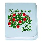 In My Rose Garden baby blanket