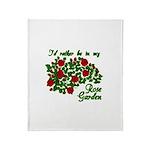 In My Rose Garden Throw Blanket