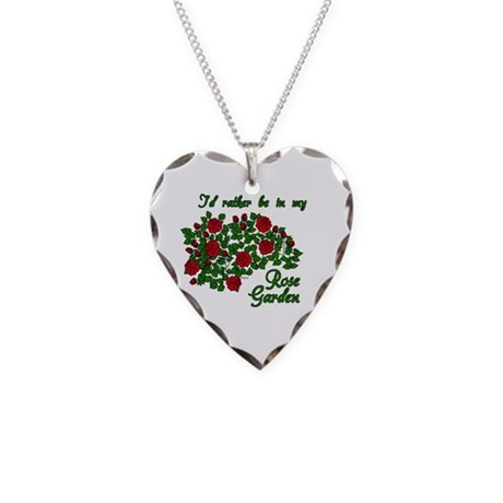 In My Rose Garden Necklace Heart Charm