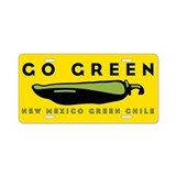 Go Green Aluminum License Plate