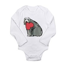 beardie heart Long Sleeve Infant Bodysuit