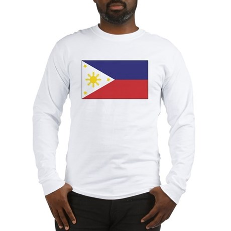 Philippine Flag Long Sleeve T-Shirt