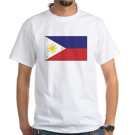 Philippine Flag White T-Shirt