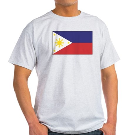 Philippine Flag Ash Grey T-Shirt