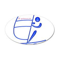 Surfing Blue 38.5 x 24.5 Oval Wall Peel
