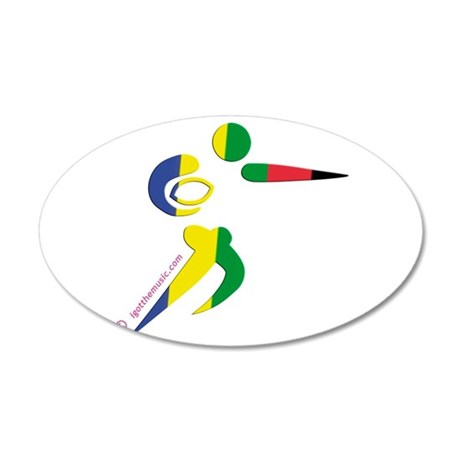 Rugby Olympic 38.5 x 24.5 Oval Wall Peel