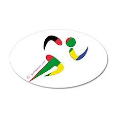 Running Olympic 22x14 Oval Wall Peel